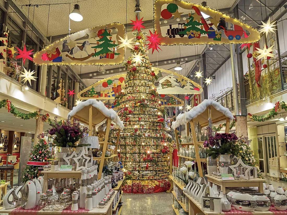 Weihnachtsbaum Engelshaar.Weihnachtsland Joska Bodenmais
