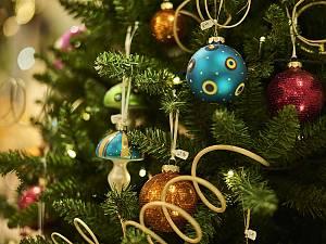 Außergewöhnliche Weihnachtskugeln.Weihnachtsland Ausstellung Joska Bodenmais